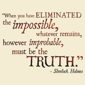 TShirtGifter presents: Sherlock Holmes - Eliminate the Impossible