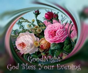 GOOD NIGHT AND GOD BLESS YOUR EVENING!