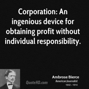Ambrose Bierce Business Quotes