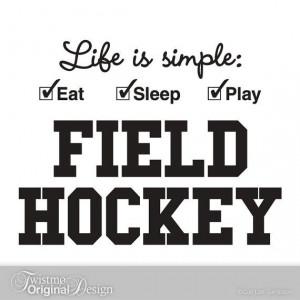 field hockey quotes | Field Hockey Sports Decor, Vinyl Wall Decal ...