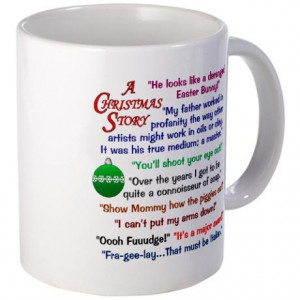 Christmas Story Mug with quotes from the movie. $15.00 # ...