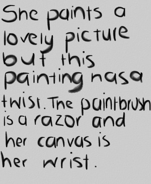 ... Grunge canvas skin poem razor selfharm followback soft grunge