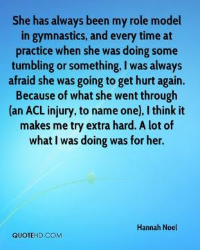 Hannah Noel - She has always been my role model in gymnastics, and ...