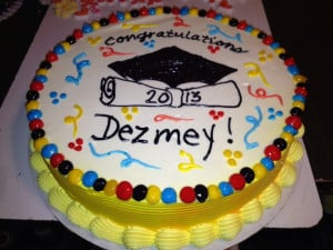 DQ Cakes...Dairy Queen. Graduation. Only no hat since it is for 8th ...