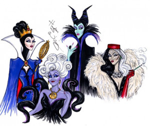 ... maleficent, sleeping beauty, ursula, villains, white snow, the evil