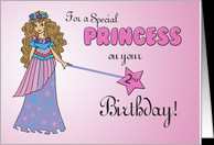 2nd Birthday Pink Princess, with Sparkly Look and Wand card - Product ...