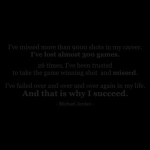 Why I Succeed Michael Jordan Wall Quotes™ Decal