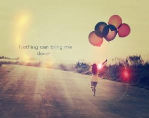 balloons, girl, hope, inspiring, optimism, quote