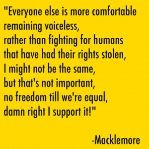 macklemore #rap #love #gay #samelove #song #lyrics #quote # ...