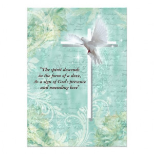 Religious confirmation dove custom invitations from Zazzle.com
