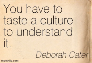 Culture Food Quotes