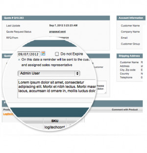 Customer Quotations Extension for Magento - Screenshots