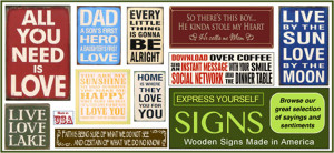 Wood Signs and Sayings