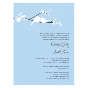 Love Birds Wedding Invitations (Set of 4 - 4 Colors) (1032) - Discount ...