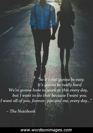 Love quotes from the notebook