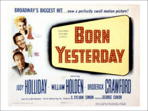 Born Yesterday Broderick Crawford Judy Holliday William Holden 1950