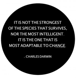 Charles Darwin quote on adaptability