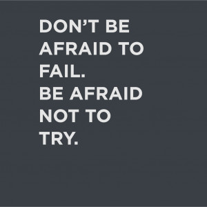 Home > Products > Don't Be Afraid to Fail Quote Decal