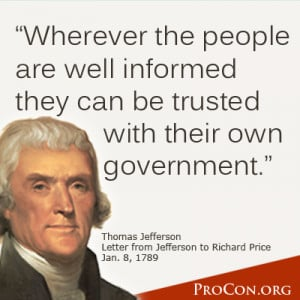 Thomas Jefferson - Information is the currency of democracy.