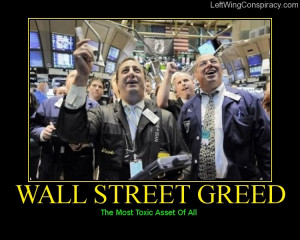 Wall Street Greed