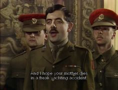 ... yachting accident captain blackadder blackadder goes forth # quotes