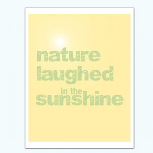 NATURE LAUGHED Anne Bronte