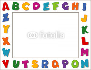 Education Frames Alphabet frame, copy space,
