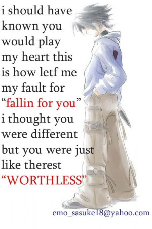 Emo Sad Love Quotes sad Emo Boy Girl Quotes that Make You Cry Pictures ...