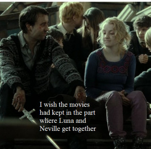 ... Vs. Twilight I with the movies kept Neville and Luna's relationship