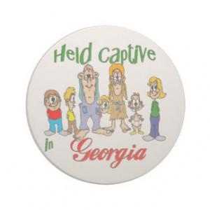 Georgia Funny Trailer Park Sandstone Coaster