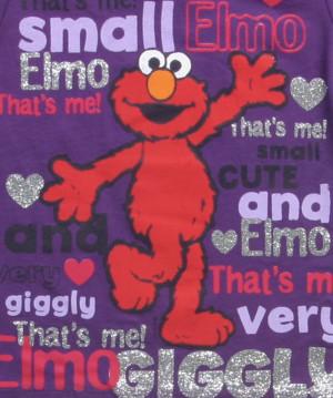 Toddler Elmo Sayings Purple T-Shirt