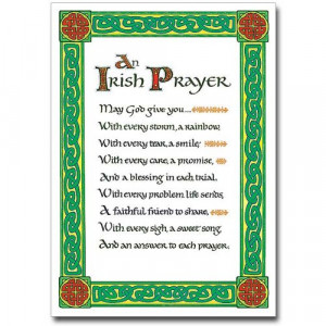 irish prayer holy note card with envelope an irish prayer may god give ...