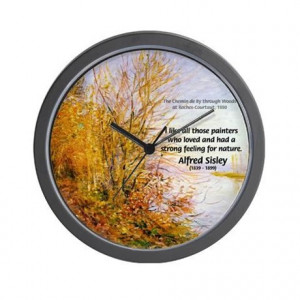 Gifts > Living Room > Alfred Sisley Nature Quote Wall Clock