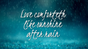 Home » Quotes » Love Like Sunshine After Rain Quotes HD Wallpaper