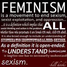 Feminism definition, from bell hooks
