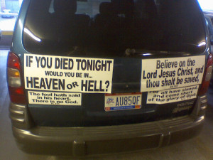 What's It Like to Have an Atheist Car?