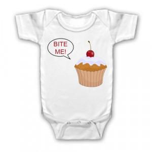 FUNNY SAYINGS SHIRT CUPCAKE BITE ME YOUTH KID TODDLER INFANT BABY $8 ...
