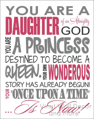 Princess Print Daughter of God by lisamingersoll on Etsy