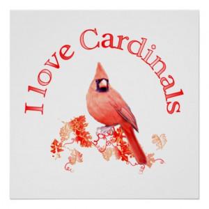 Love Cardinals Poster