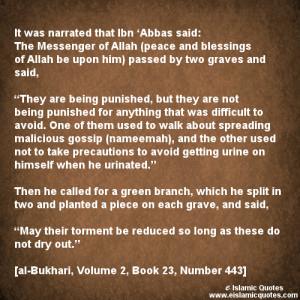 Hadith on Backbiting – Gossip – Bukhari