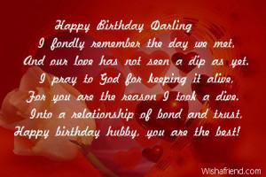 Happy Birthday Darling I