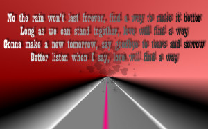 Song Lyric Quotes In Text Image: Love Will Find A Way – Christina