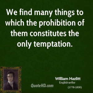 We find many things to which the prohibition of them constitutes the ...