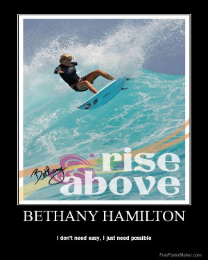 famous quote from the movie Soul Surfer about the life of pro surfer ...
