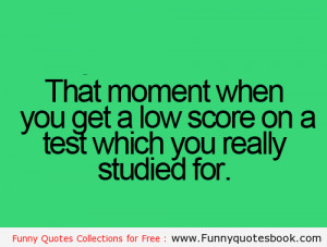 When you get a low score in test