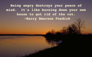 Being Angry Destroy Your Peace