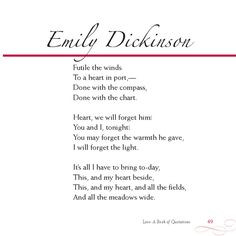 emily dickinson poems | Emily Dickinson More