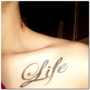 Word Tattoos and Tattoo Designs Pictures Gallery