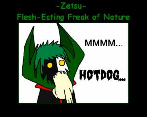 Zetsu White side:Ahahaha a tentacle!Black side:Don't laugh!