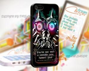 Legend Of Zelda Majoras mask Quotes - Print On Hard Case iPhone 5 ...